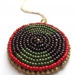 Bead Embroidered Red, Gold..